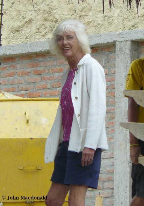 Jackie at job site in September 2012