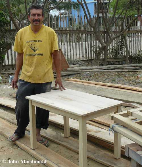 Miguel with table