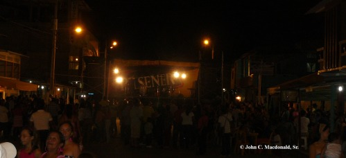 Stage in roadway