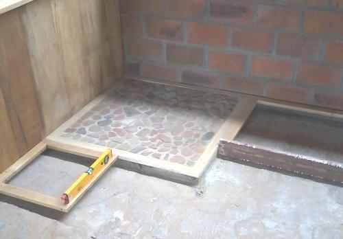 Start of dining room floor