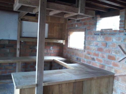 Start of kitchen cabinets