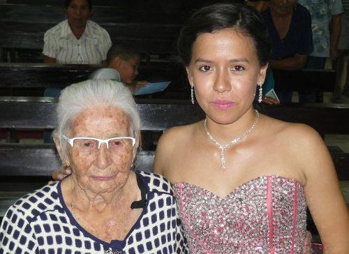 Luna with Grandmother (Ramon's mother)